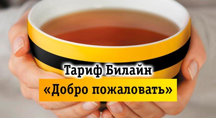 Тарифы Билайн Добро пожаловать в Москве и Санкт-Петербурге